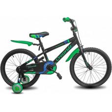 """CROSSRIDE Fashion Bike 16"""" Черный/Зеленый"""